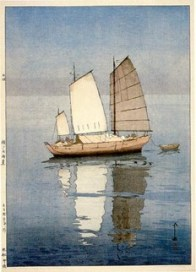 Hiroshi Yoshida, Sailboats: Afternoon (Hansen, Gogo), from the series Inland Sea, 1926, Museum of Fine Arts, Boston, Chinese and Japanese Special Fund.