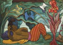 Diego Rivera, Juchitán River (Río Juchitán), 1953–1955, oil on canvas on wood, Mexico, INBA, Museo Nacional de Arte © 2017 Banco de México Diego Rivera Frida Kahlo Museums Trust, Mexico, D.F. / Artists Rights Society (ARS), New York