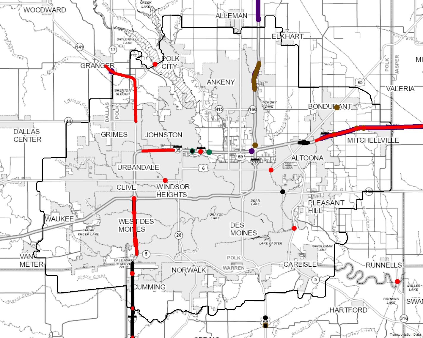 image regarding Printable Map of Iowa identify Maps Des Moines House MPO