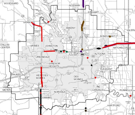 Maps | Des Moines Area MPO Des Moines Map on