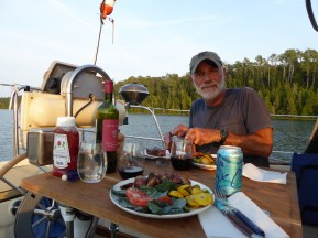 Fine Dining Aboard San Francisco, Chippewa Harbor, Isle Royale