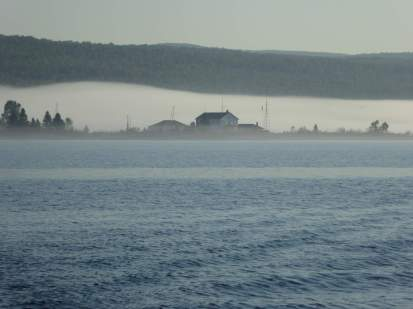 Fog Bank Over Grand Marais Harbor, MN