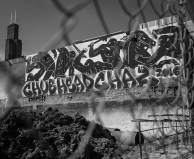Graffiti under the Sears Tower, Chicago