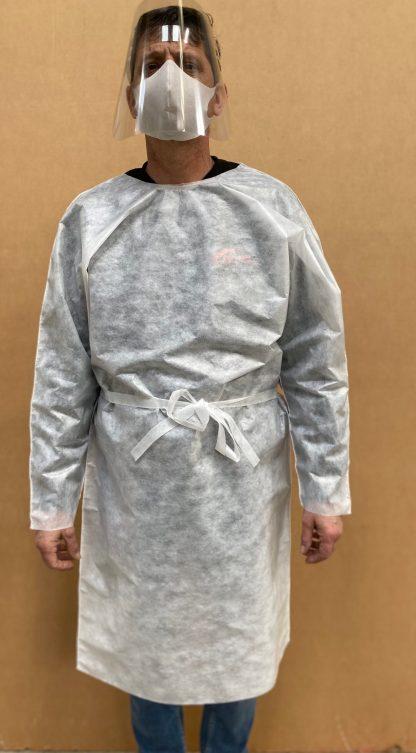Productos protección Dmask: mascarilla higiénica reutilizable, Pantalla facial y bata desechable