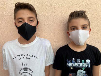 Mascarilla higiénica reutilizable de tela para niños Dmask 65