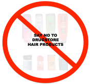 No to drug store products