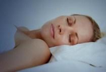 photo of woman sleeping