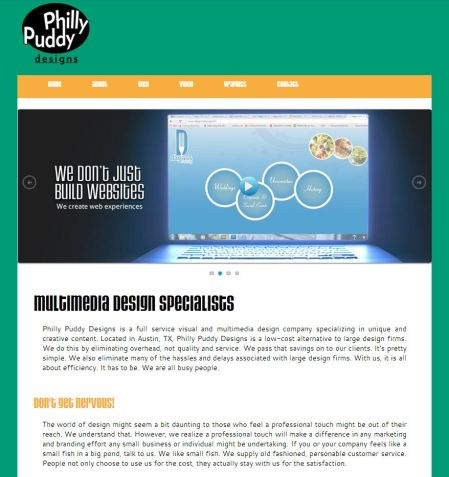 Philly Puddy Designs website