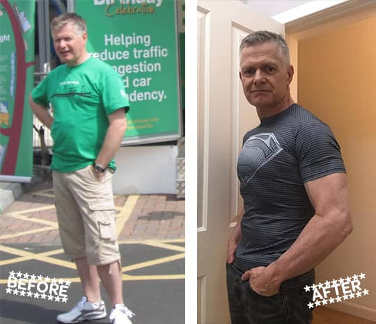 Gordon Bain Before and After
