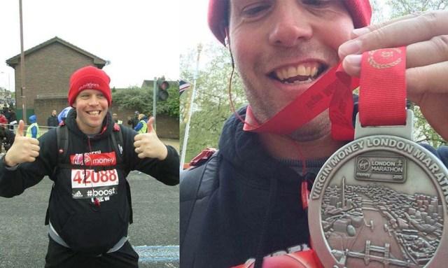 Davie at London Marathon