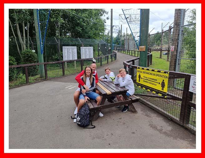 Taking a break at Edinburgh Zoo