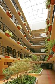 DMCI Raya Garden condo atrium in Paranaque
