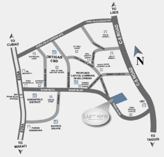 Lumiere Residences Location Map