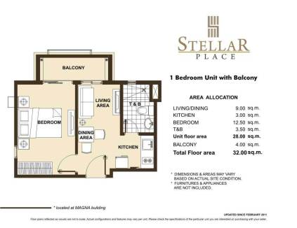 STELLAR PLACE 1 BR WITH BALCONY