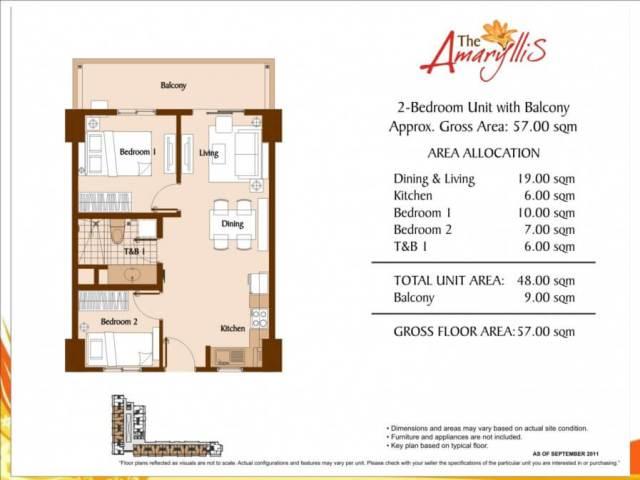 2 bedroom Amaryllis