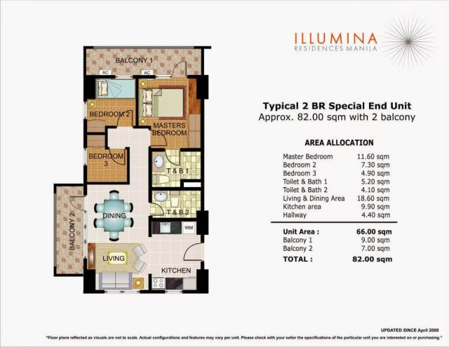 Illumina 3 Bedroom Unit Layout