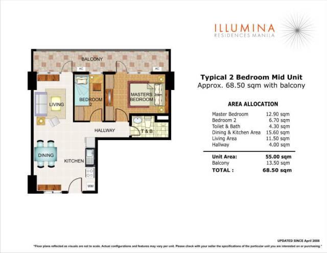 illumina residences 2bedroom mid unit
