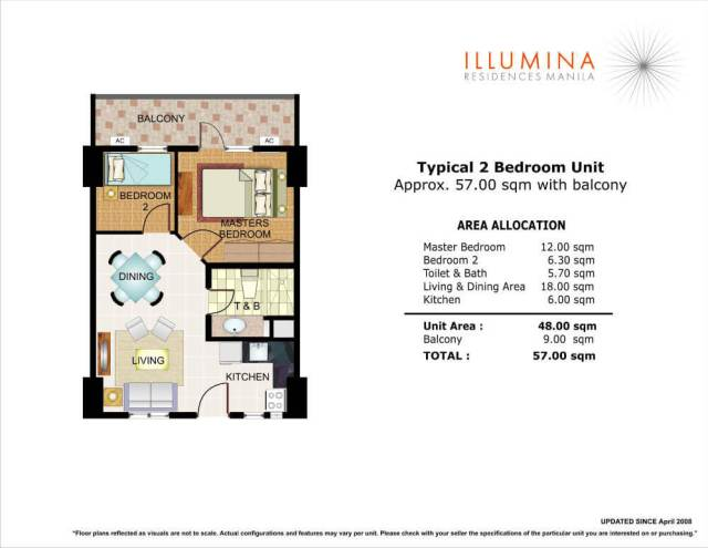 illumina residences 2bedroom unit