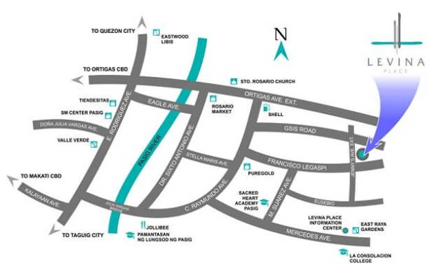 Levina Place DMCI location map