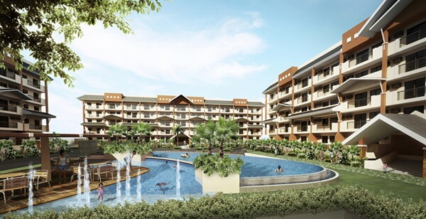 Swimming pool in Siena Park Residences in Paranaque