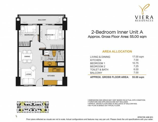 VIERA RESIDENCES 2 bedroom unit A