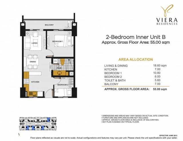 VIERA RESIDENCES 2 bedroom unit B