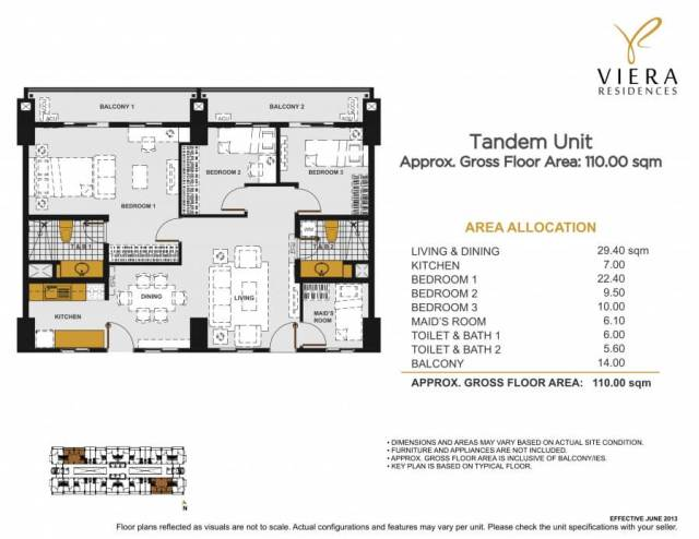 VIERA RESIDENCES 3 bedroom tandem unit