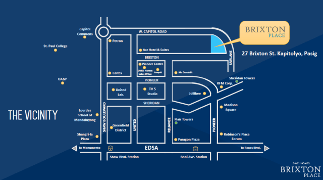 Brixton place Location Map