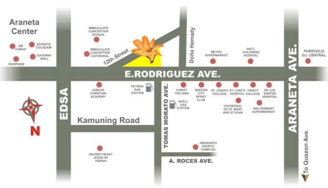 Amaryllis Location Map