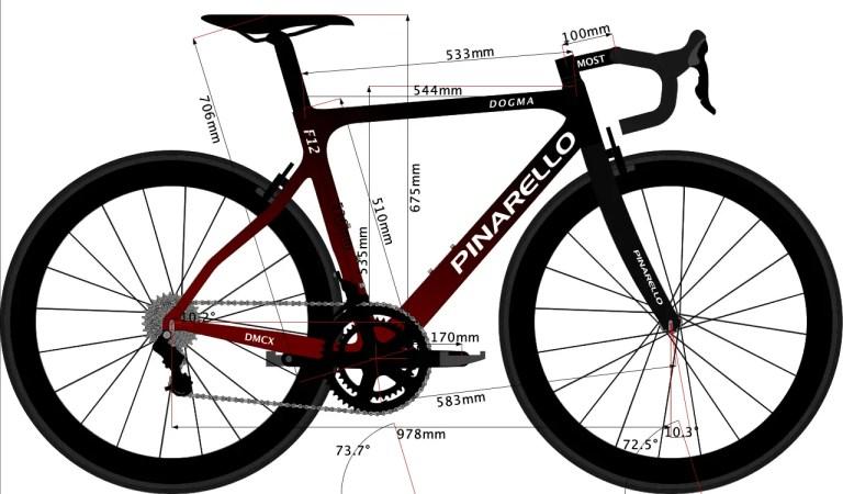 Sketch of Egan Bernal road bike 2019 set up
