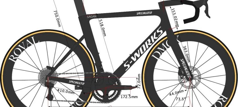 Peter Sagan's bike size Specialized Venge Disc 2020