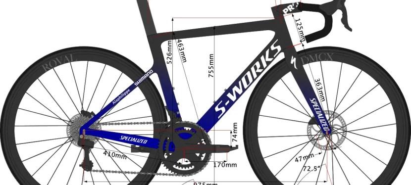 Julian Alaphilippe's 2020 Bike Size