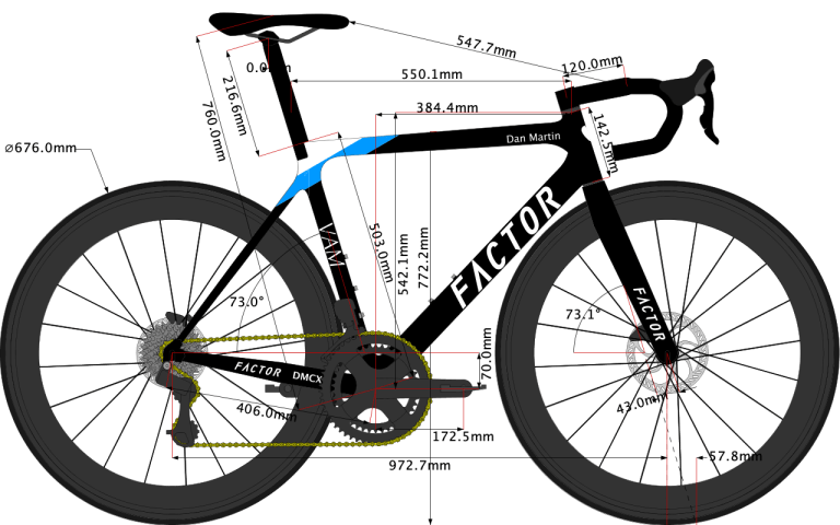 sketch of the Factor road bike size 54cm