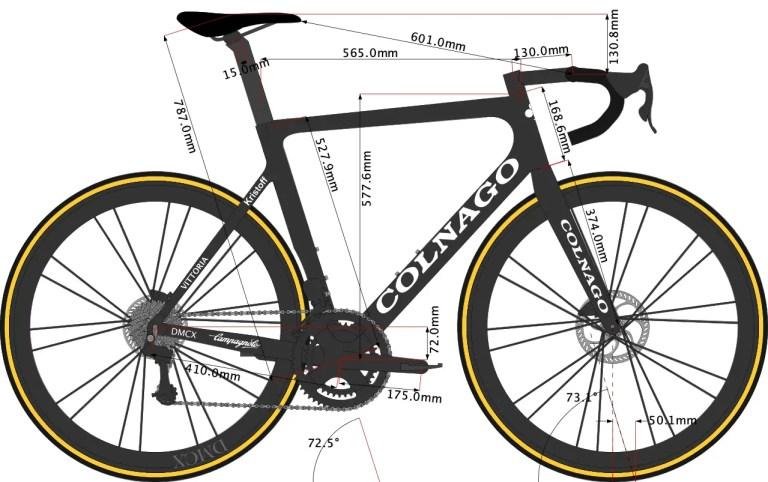 Alexander Kristoff's Colnago VR3S Bike Size 2021 sketch