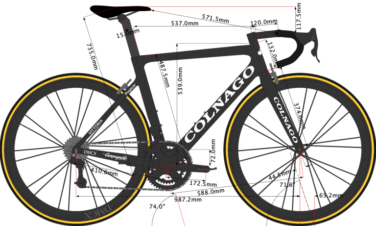 Tadej Pogacar's Colnago Bike Size 2020