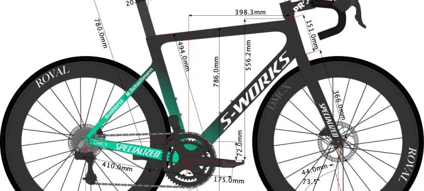 Maximilian Schachmann's Tarmac SL7 Bike Size 2021