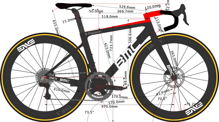 sketch of Domenico Pozzovivo's BMC Teammachine Bike Size 2021
