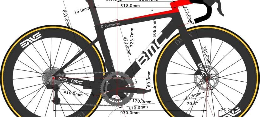 Domenico Pozzovivo's BMC Teammachine Bike Size 2021