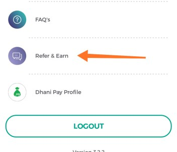 Dhani app refer and earn