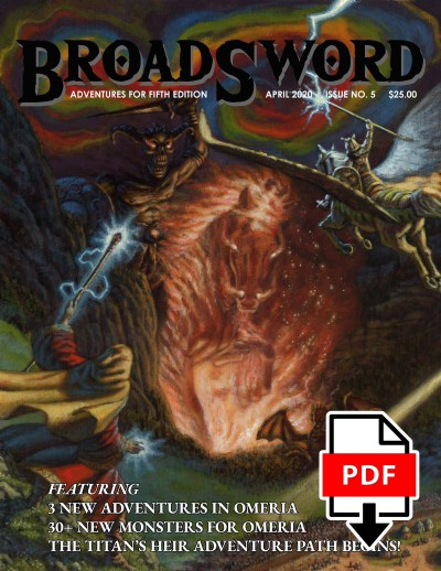BroadSword Monthly Issue #5 PDF available for instant download at dmdave.com