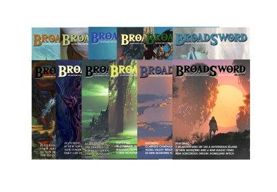 BroadSword 12 Issue Print Subscription at DMDave.com. Featuring 12 softcover books of original 5e content, monsters, maps and more by DMDave