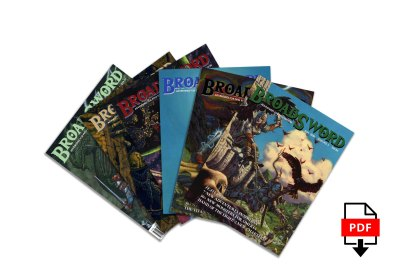 BroadSword Issue 1-6 PDF Bundle by DMDave features the first 6 issues of BroadSword Monthly, available for instant download at dmdave.com