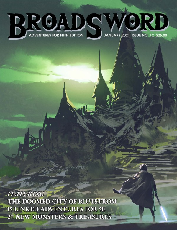 BroadSword Monthly Issue 12 print features 124-pages in a softcover book. Buy it at dmdave.com