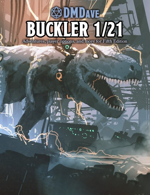 Buckler January 2021 by DMDave, available at the dmdave.com shop for instant download