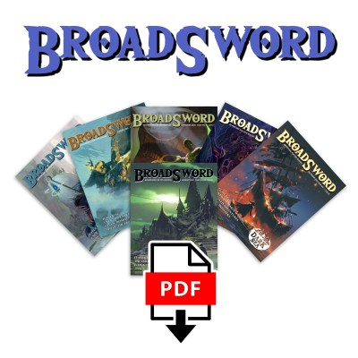 BroadSword Issue 7-12 PDF Bundle by DMDave features the second 6 issues of BroadSword Monthly, available for instant download at dmdave.com