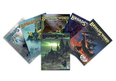 BroadSword Issue 7-12 Print Bundle by DMDave features the second 6 issues of BroadSword Monthly in softcover books, available for purchase at dmdave.com