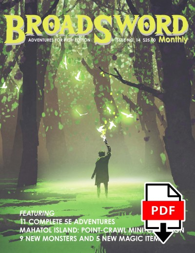 BroadSword Issue 14 (PDF) available for instant download at the dmdave.com shop!