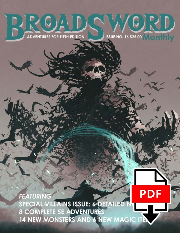 BroadSword issue 16 (PDF) - buy it now at dmdave.com