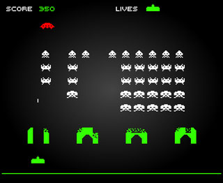 Space Invaders snapshot