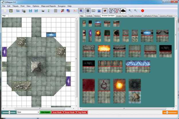Designing dungeons with the PyMapper program